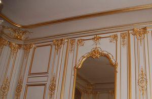 Boiserie Luigi XIV, Louis XIV paneles de madera, con tallas de hojas de oro
