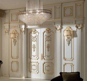 Palazzo Farnese boiserie, Boiserie de estilo clásico tallada a mano