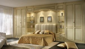 R 10, Paneles de madera para dormitorio, con puente con luces