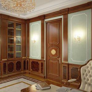 Revestimiento de madera, Los paneles de madera para hoteles y villas, wuth emparejado muebles ideales estilo clásico