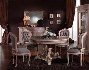 3640 MESA, Mesa redonda de estilo clásico, precio outlet