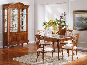 OLIMPIA B / Extendible Square Table - Outlet, Mesa de estilo clásico en madera, precio de salida