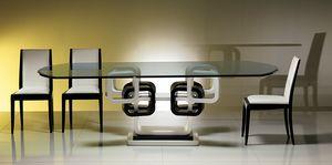TA39K mesa, Mesa de anillo lacada en blanco y negro