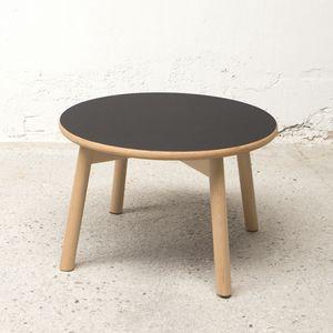 Mesita redonda diam.50 cm, Mesita de centro en madera, con tapa redonda
