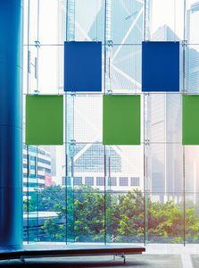 Baffle Oversize, Sistema patentado para suspender paneles fonoabsorbentes