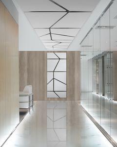 Flat, Paneles modulares de absorción de sonido con una superficie perfectamente plana.
