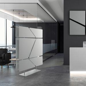 Flat totem, Divisor compuesto por 12 paneles absorbentes de sonido.
