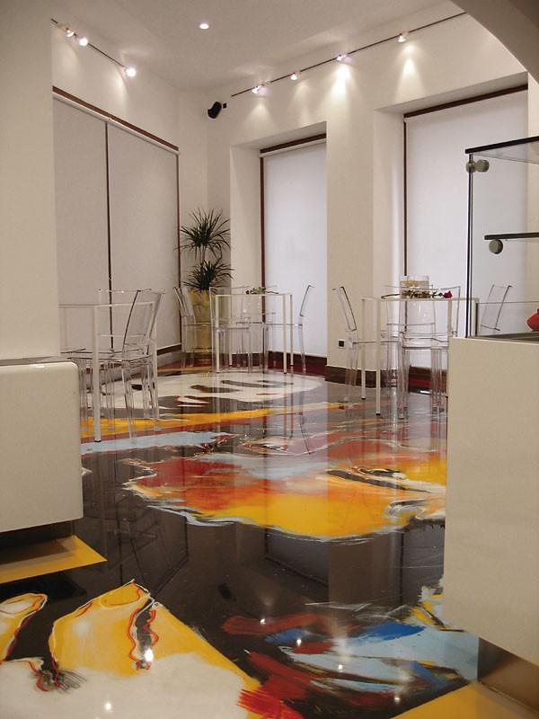 Artistic resin floors 2, Suelo de resina, para las tiendas y bares