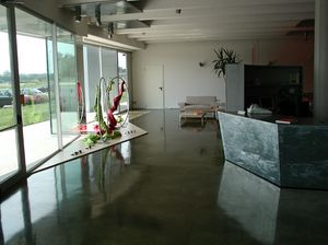 Autoleveling epoxy resin floors for stores, Suelo de resina, para villas de lujo