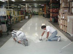 epoxy resin floors for the industry 2, Piso con una instalación rápida y fácil de limpiar, para el almacén