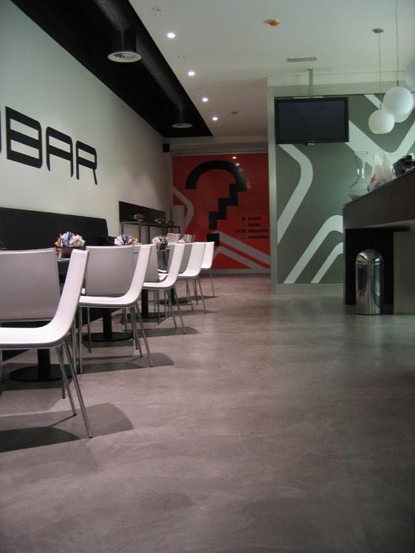 Rendered concrete resin floors for bars, Suelo de resina, ideal para bares salón