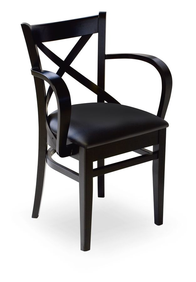 Wolf/P, Sillón en madera con asiento tapizado