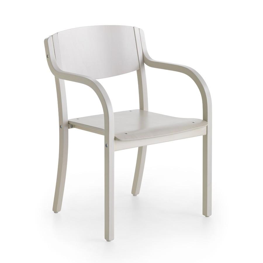 Silla de madera con brazos, minimalismo, comedor | IDFdesign