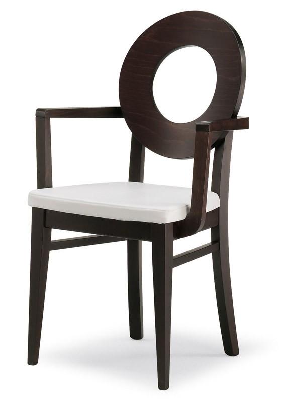 PL 47 / UHP, Silla con respaldo de madera y asiento tapizado, en varios colores