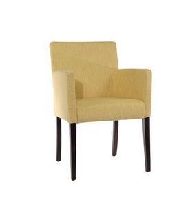 421, Butaca tapizada, estilo lineal, para la sala de estar moderna
