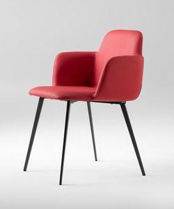 ART. 0031-MET-CB-UPH BARDOT, Pequeño sillón acolchado