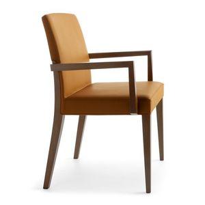 Charme 02521, Silla de madera con brazos , silla acolchada de hotel