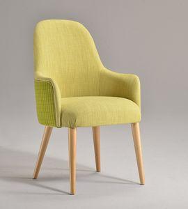 DALIA silla con apoyabrazos 8777A, Silla con brazos, acolchada, con acabado personalizable