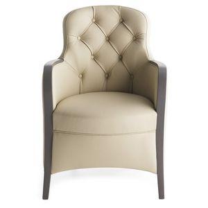 Euforia 00136K, Elegante sillón con respaldo de mechón insertado
