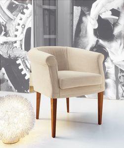 Isa, Sillón con tapicería totalmente desmontable, adecuada para la situación residencial y contrato