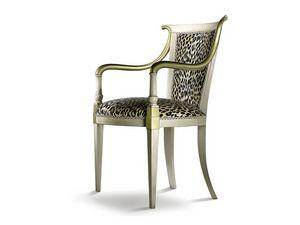 JENNY armchair 8267A, Sillón de estilo clásico con brazos bien formados