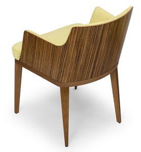 Kate wood ARMS, Pequeño sillón en madera zebrano