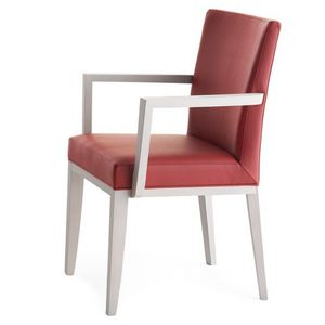 Logica 00935, Sillón de madera maciza con brazos, asiento y respaldo tapizados, por contrato y uso doméstico