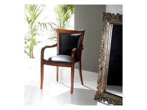 PEGGY armchair 8247A, Sillón tapizado cubierto de cuero, apilable