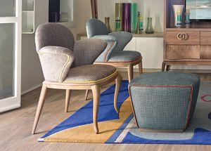 Rolling silla con reposabrazos, Silla para uso doméstico y contractual