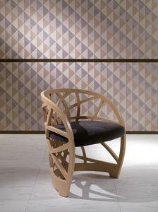 SE54 Galileo, Silla de madera con asiento acolchado