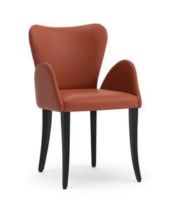 VENTO sillón, Sillón tapizado pequeño, con un gusto clásico
