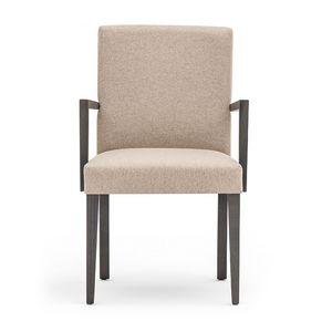 Zenith 01621, Sillón con brazos con estructura de madera, asiento y respaldo tapizados, revestimiento de tela, por contrato y uso doméstico
