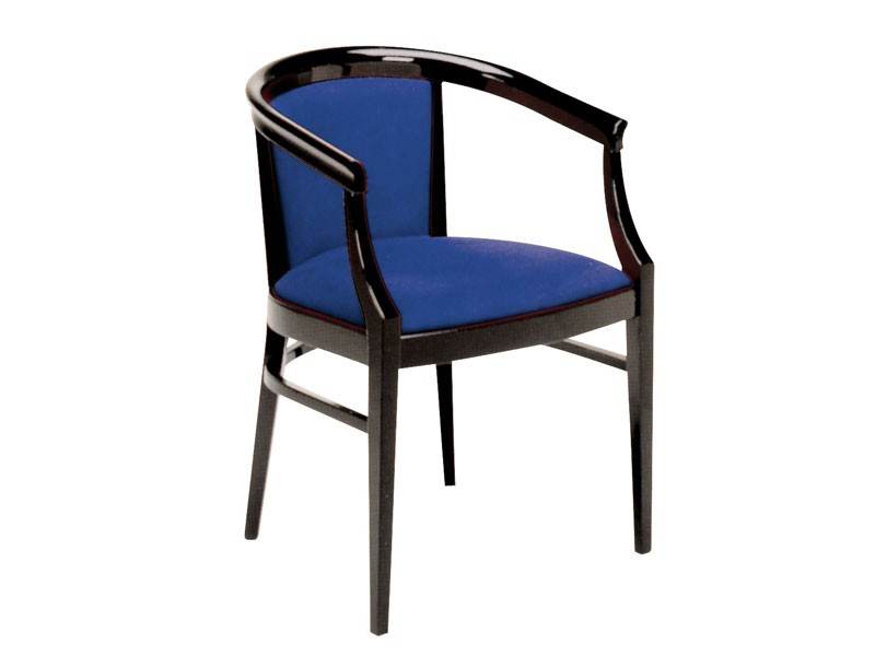 064, Sillón de estilo clásico de madera pintada, para los restaurantes
