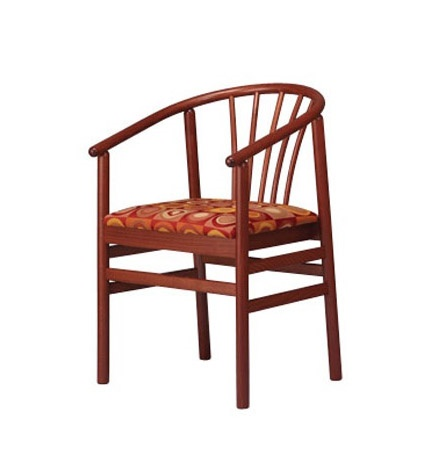 401, Silla con brazos de haya, con asiento tapizado