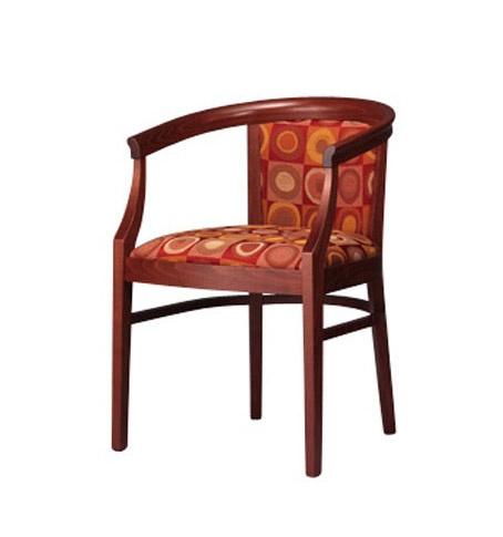 430, Sillón en madera de haya, elegante y resistente, acolchado
