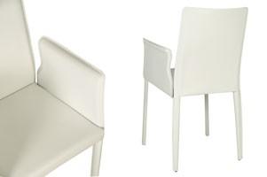 Anemone with armrests, Silla con asiento de cuero, para la habitación del hotel