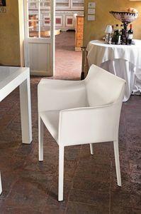 MARSIGLIA PT607, Sillón tapizado con la cubierta de cuero para los comedores y bares