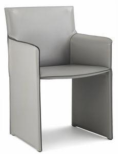 Pasqualina lounge sillón 10.0088, Sillón pequeño con laterales tapizados en cuero.