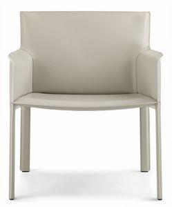 Pasqualina relax sillón 10.0089, Sillón pequeño con asiento grande, en cuero.