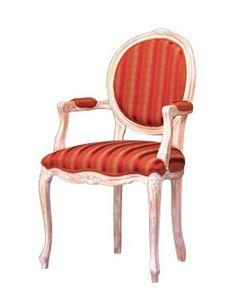 1051, Silla con brazos cubiertos de restaurante clásico