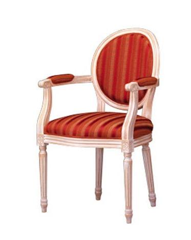 1053, Clásica silla con brazos, acolchado, para sala de estar