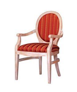 1080, Sillón clásico en madera de haya con la parte posterior ovalada