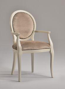 ADELAIDE silla con apoyabrazos 8030A, Silla con asiento acolchado, para el restaurante de lujo