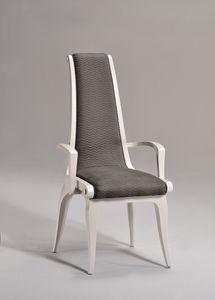 AFRODITE silla con apoyabrazos 8291A, Silla tapizada con brazos, clásico de lujo