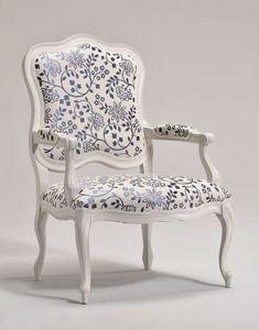 ANTEA sillón 8538A, Sillón de estilo tapizados, en madera de haya, por vestíbulo del hotel