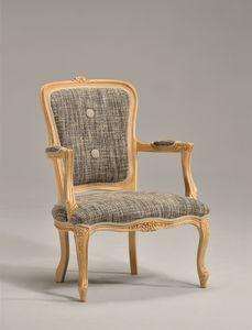 BRIANZOLO sillón 8040A, Clásica silla de madera, hecho a mano, para la recepción