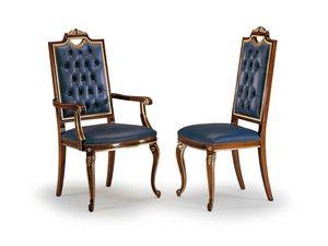 CARLO MAGNO armchair 8087A, Silla con respaldo alto acolchado, cabecera de la mesa