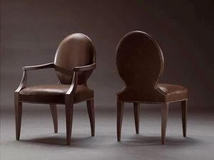 CASPER armchair 8240A, Silla completamente tapizada, recubierta de cuero