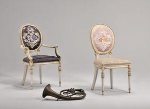 CHARLOTTE sillón 8649A, Silla con brazos, de estilo Art Nouveau, acolchado