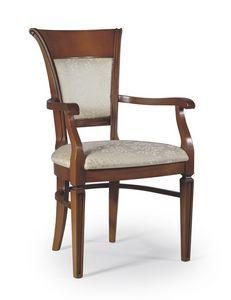 Firenze silla con brazos, Silla acolchada para salas de estar, estilo clásico